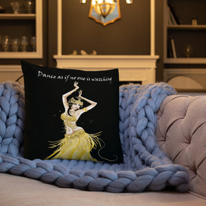 Modern Belly Dancer on Indoor Pillow v.1 (20X12 OR 18x18) - Hand Made to Order - falooka