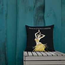 Load image into Gallery viewer, Modern Belly Dancer on Indoor Pillow v.1 (20X12 OR 18x18) - Hand Made to Order - falooka