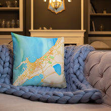 Load image into Gallery viewer, Egyptian Nile Water Color Map Premium Indoor Pillow (18X18) - Hand Made to Order - falooka