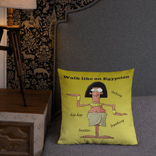 Load image into Gallery viewer, 'Walk Like an Egyptian' Premium Indoor Pillow (18X18) - Hand Made to Order - falooka