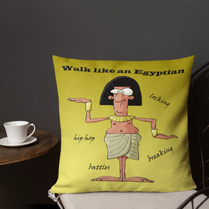 'Walk Like an Egyptian' Premium Indoor Pillow (18X18) - Hand Made to Order - falooka