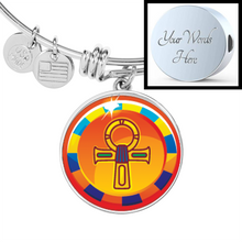 Load image into Gallery viewer, Modern Ankh Egyptian Bangle (Symbolizes 'wisdom' in your life) - Hand Made to Order - falooka