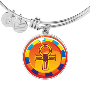 Modern Ankh Egyptian Bangle (Symbolizes 'wisdom' in your life) - Hand Made to Order - falooka