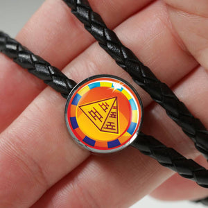 Dazzling Pyramid Egyptian Charm (Symbolizes 'endurance' in your life)  - Real Leather Woven Bracelet - Hand Made to Order - falooka