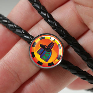 Bewitching Anibus Egyptian Charm (Symbolizes 'protection' in your life) - Real Leather Woven Bracelet - Hand Made to Order - falooka