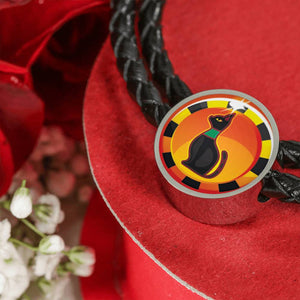 Sacred Egyptian Cat Charm (Symbolizes 'protection and Love' in your life) - Real Leather Woven Bracelet - Hand Made to Order - falooka
