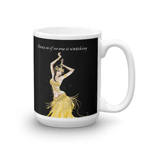 Modern Belly Dancer on Mug (11oz & 15oz) - Hand Made to Order - falooka