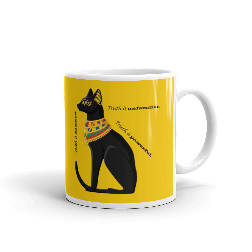 Bold Egyptian Black Cat on Mug (11oz &1 5oz) - Hand Made to Order - falooka