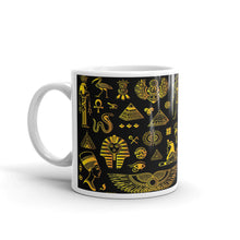 Load image into Gallery viewer, Rich Ancient Egyptian Mystical Symbols on Mug (11oz & 15oz) - Hand Made to Order - falooka