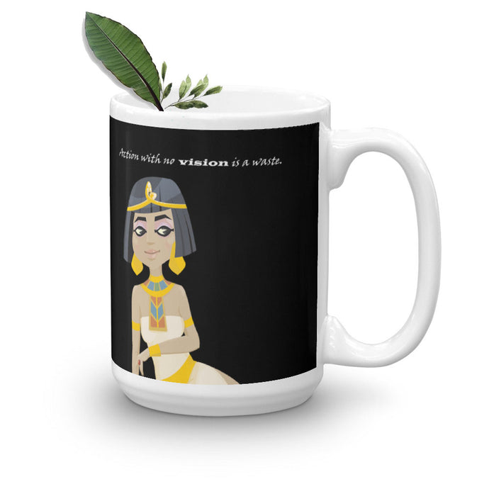 Queen Cleopatra on Mug (11oz & 15oz) - Hand Made to Order - falooka