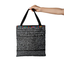Load image into Gallery viewer, Rosetta Stone Design on Tote Bag (15X15) - Hand Made to Order - falooka