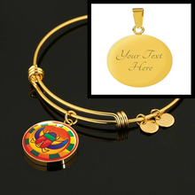 Load image into Gallery viewer, Mysterious Scarab Egyptian Bangle (Symbolizes 'the coming of newness ' in your life) - Hand Made to Order - falooka