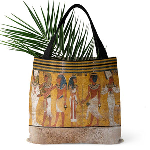 Tomb of King Tutankhamun on Tote Bag (15X15) - Hand Made to Order - falooka
