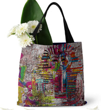 Load image into Gallery viewer, King Tutankhamun on Rustic Tote Bag (15X15) - Hand Made to Order - falooka