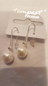 Large Pearl Drop - Silver