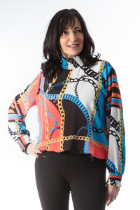 Bold, Colourful Print Top