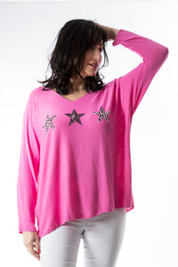 Diamante Star Style Top - in a variety of colours