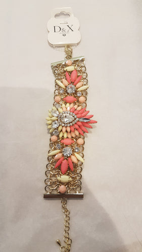 Statement Bracelet with Jewels and Diamantes