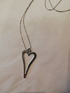 Solid cut out Heart Knecklace