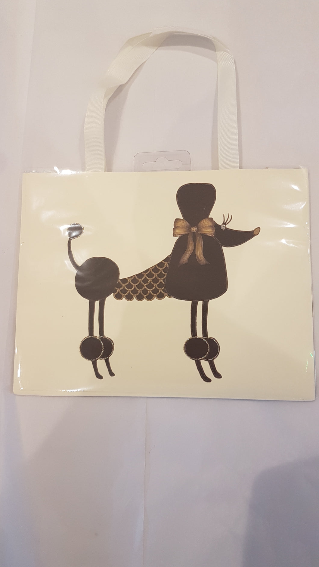 Small poodle gift bag