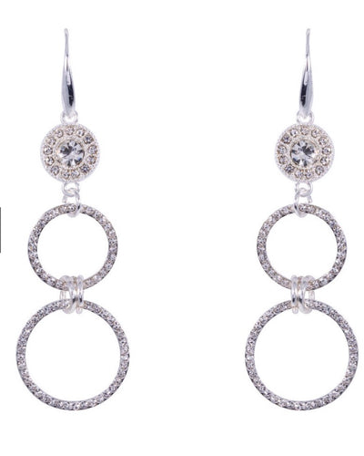 Diamante Circle Earrings