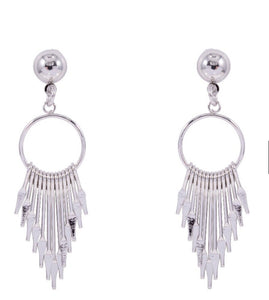 Silver coloured earrings