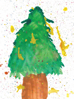 Christmas Tree Card Pack 1