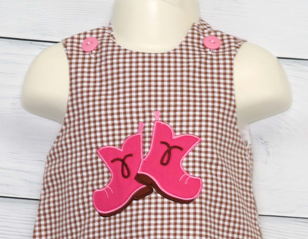 Baby cowgirl jumper dress