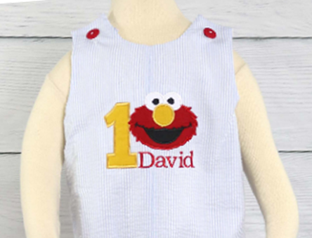 Personalized, Monogrammed, Birthday Boy Outfit, Baby Boy First Birthday Outfit, Elmo 1st Birthday Outfit Boy, Elmo Birthday Shirt, Elmo Birthday Outfit, 293315