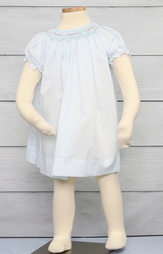 Smocked baby girl dress