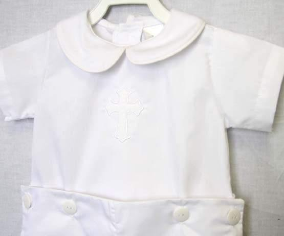 White baptism outfit boy