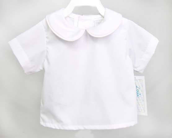 Baby Boy White peter pan collar shirt