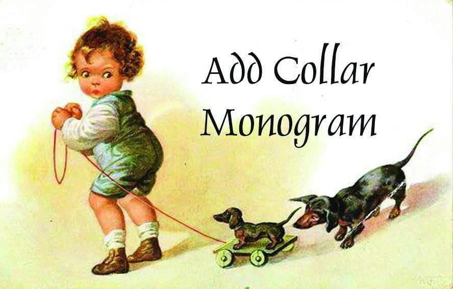 Add Collar Monogram -----------------WE CAN NOT Add collar monogram to smocked items as they are already made!