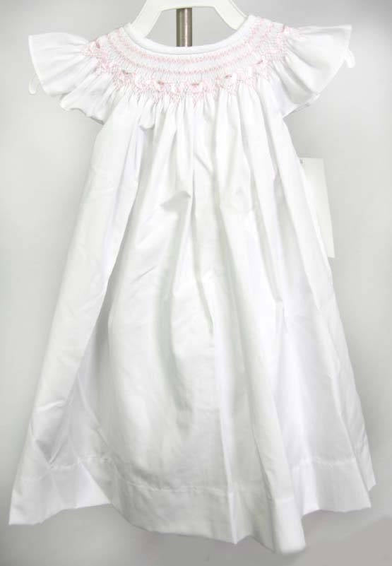 Flower Girl Dress, Toddler Flower Girl Dress, Smocked Dresses Baby Girl, Smocked Summer Dress, Baby Girl White Dress, 412657 -DD137