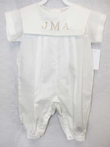 Baby boy dedication outfit in white