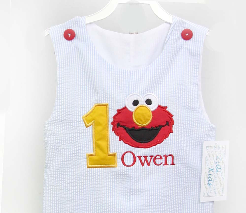 Elmo 1st Birthday Outfit Boy