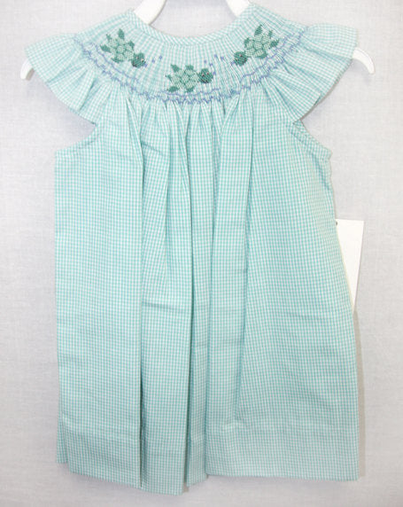 Baby girl smocked dress, Size 6 Mo