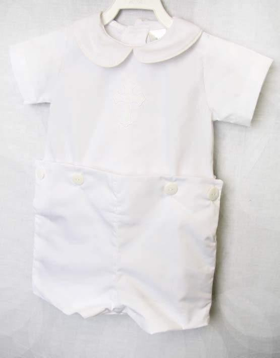 Baby boy white baptism outfit