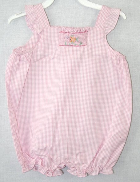 Smocked baby bubbles