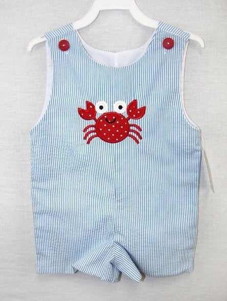 baby boy beach romper