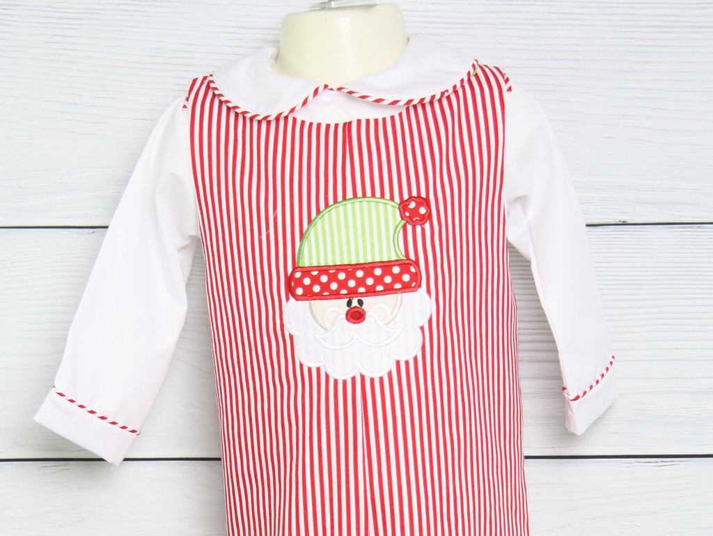 Baby's first christmas outfit for newborn boy