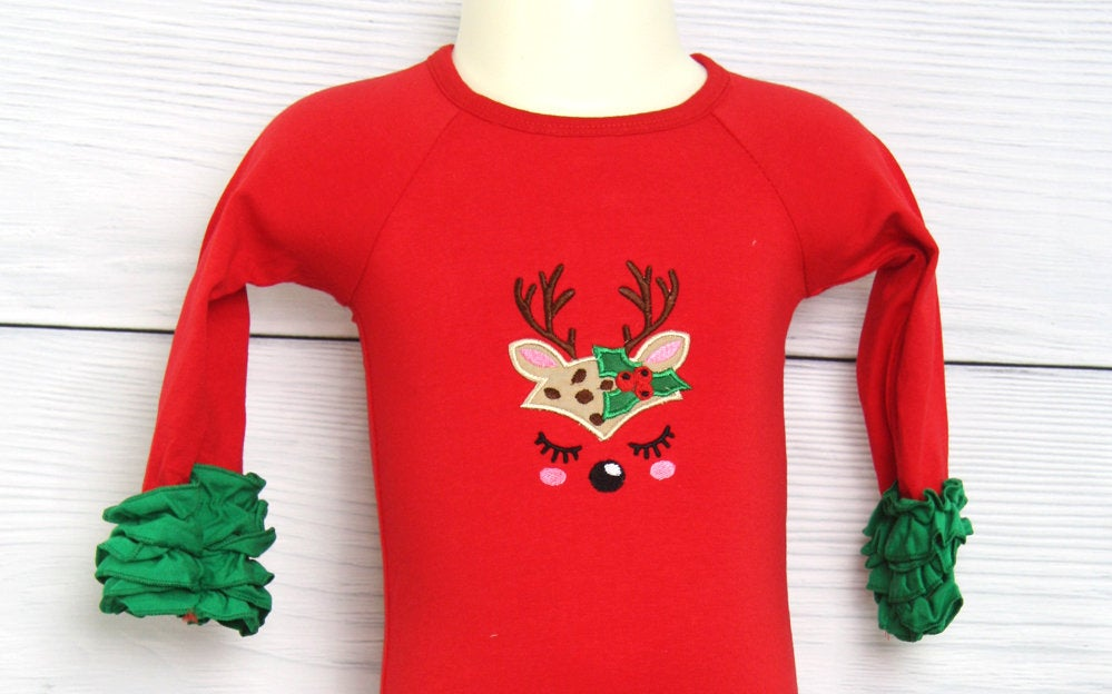 Baby Girl Christmas Gown | Infant Christmas Outfit | First Christmas Outfit 293657