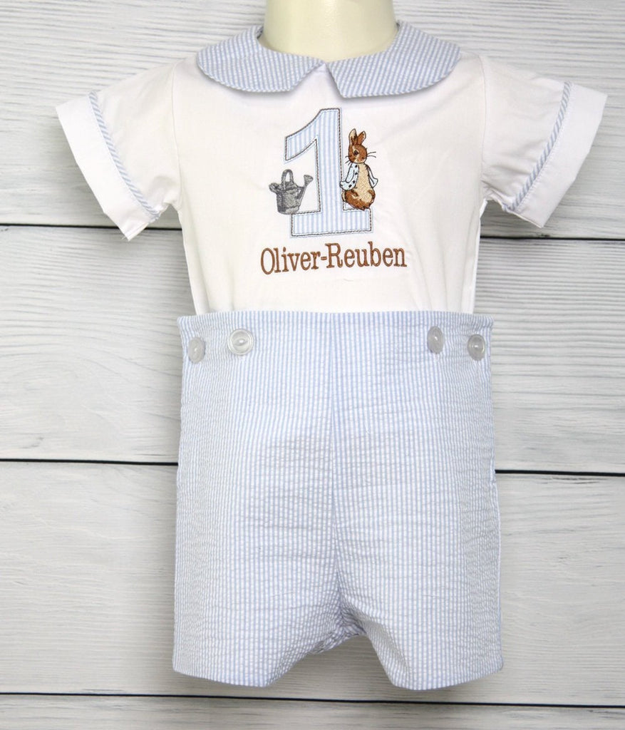 Bunny Romper for Boy Birthday Outfit ~ Peter Rabbit Party 293708