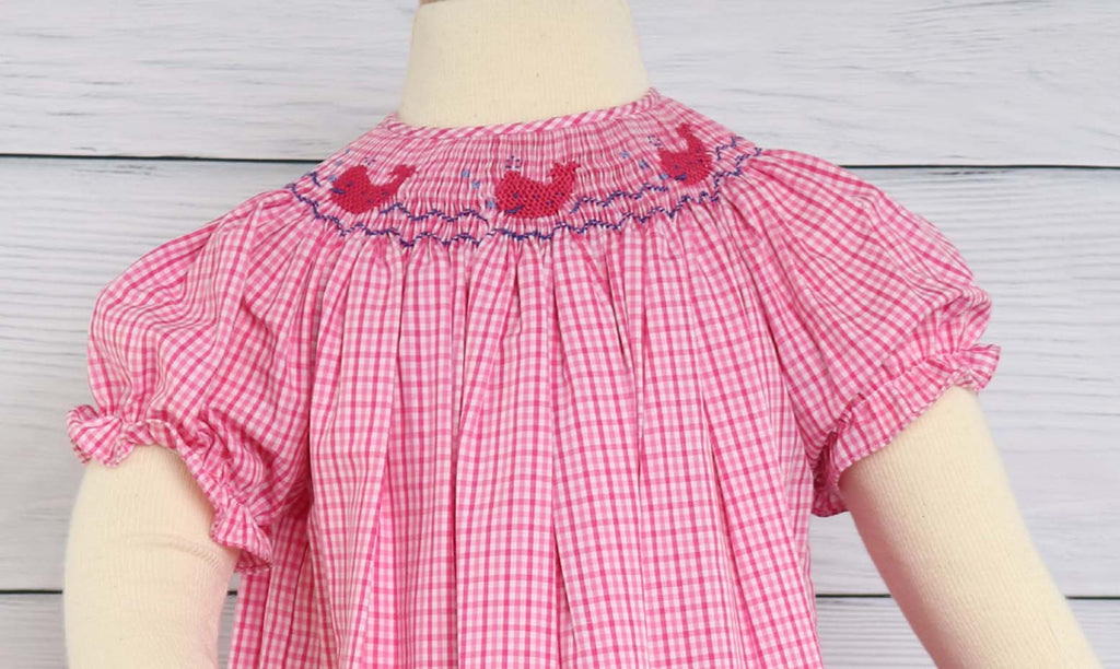 Girls Summer Dress, Bishop Sleeve Dress, Beach Summer Dress, Smocked Summer Dress, Smocked Dresses Baby Girl, 412053 A040
