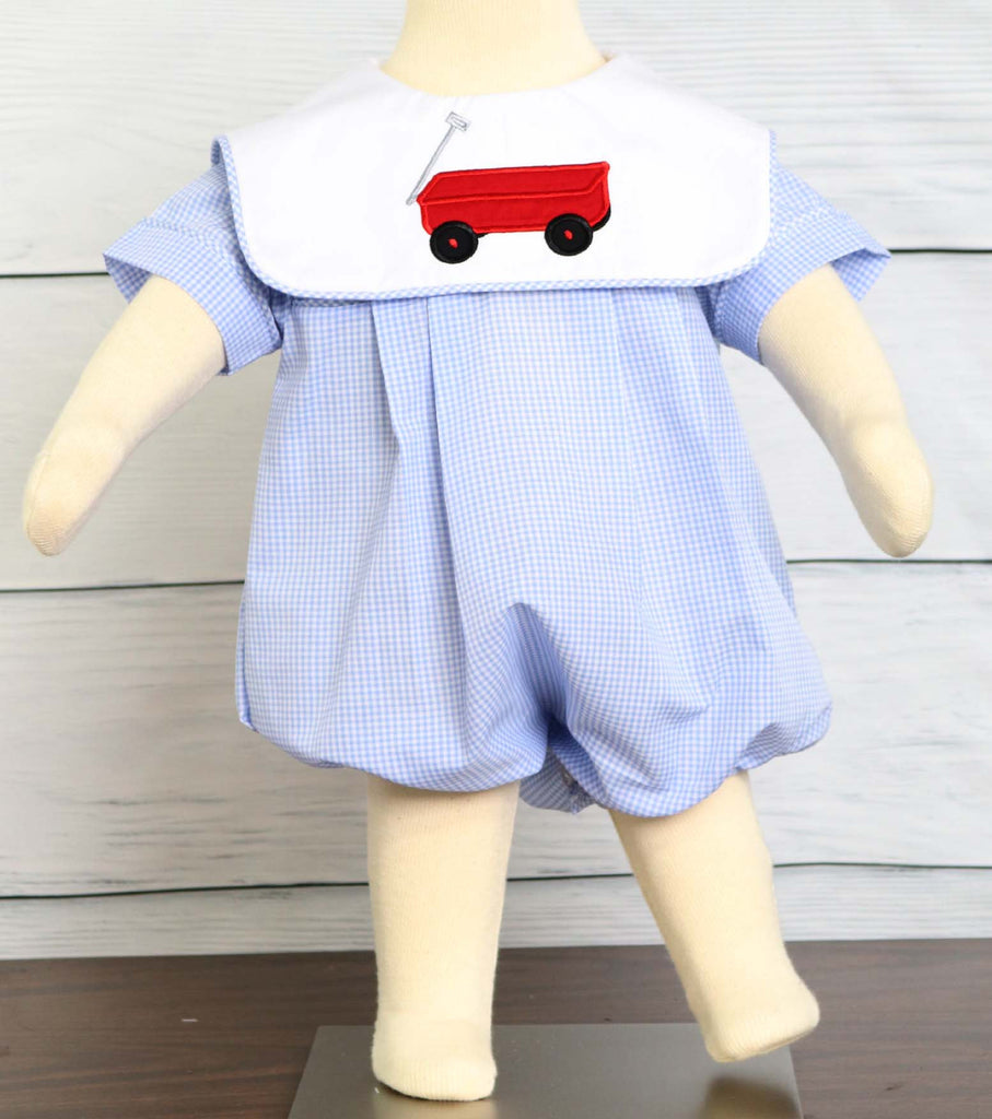 Baby boy bubble romper