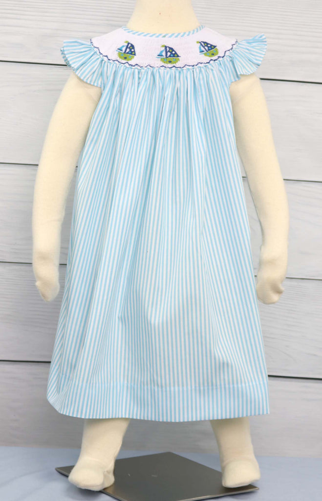 Smocked Dresses, Sailboat Dress