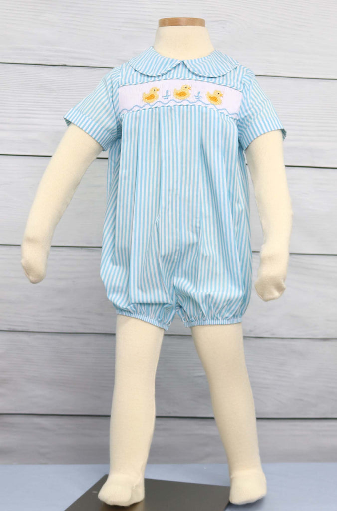 Baby boy smocked Easter outfit