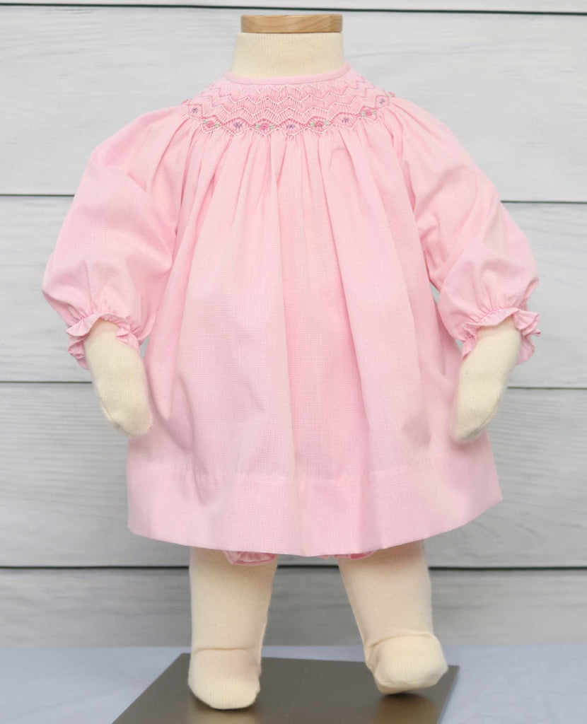 Baby girl smocked Easter dress