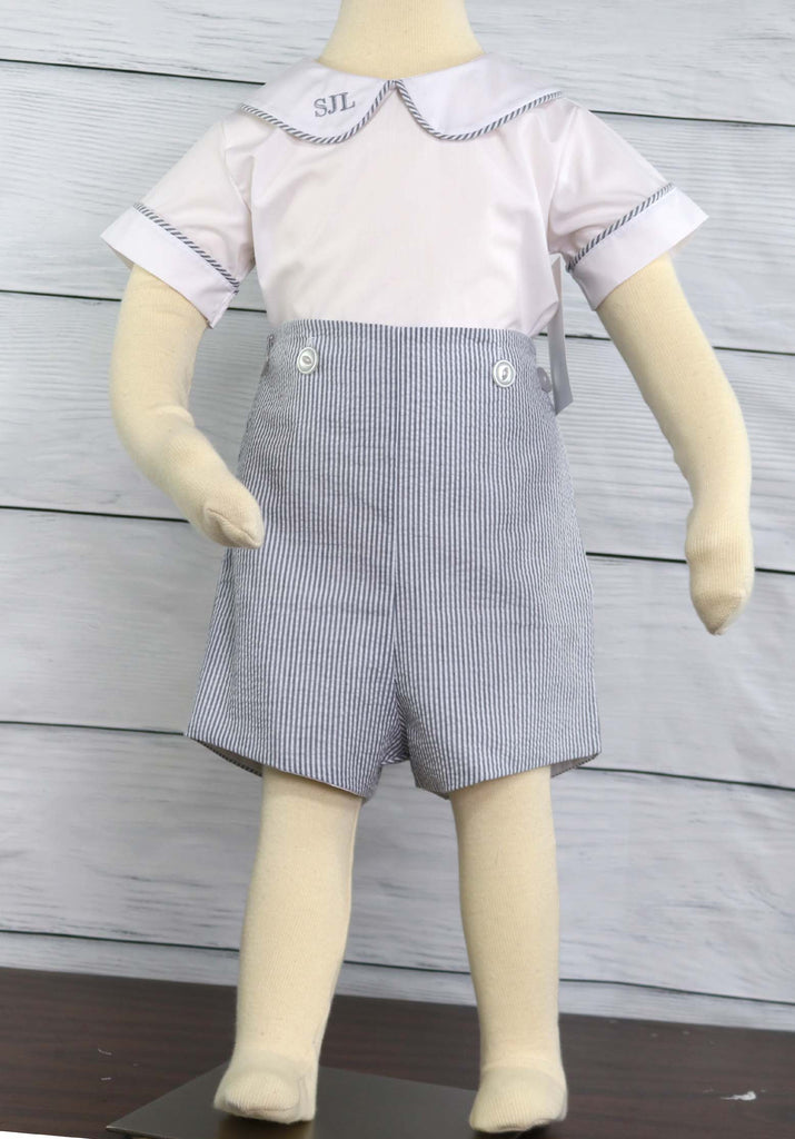 Baby boy romper set for a baby boy wedding outfit
