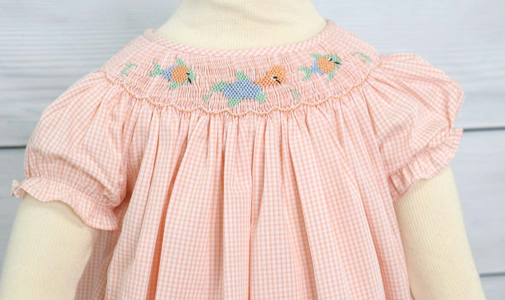 Smocked dresses for girls, smocked clothes